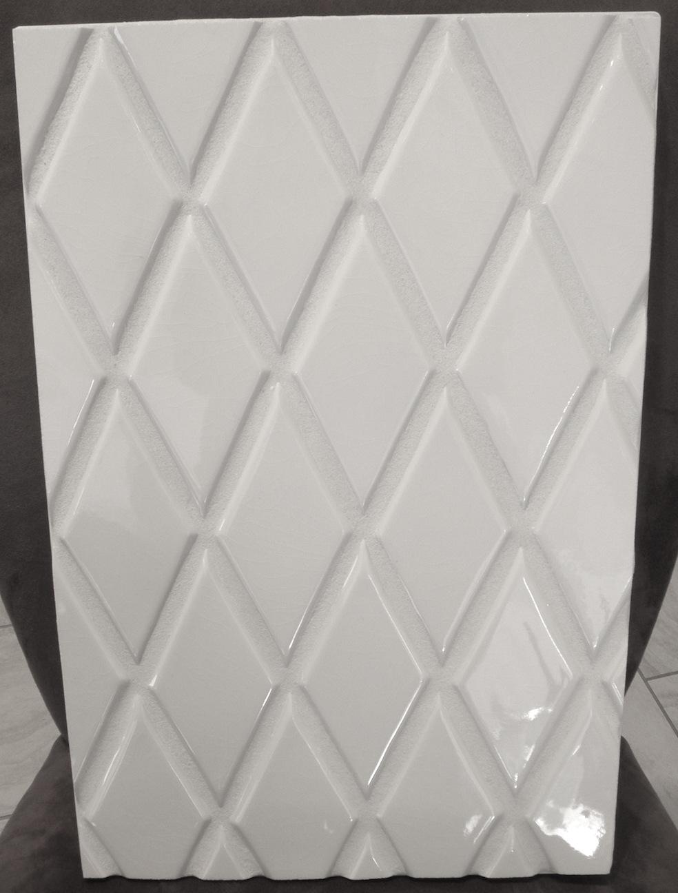 Hc White Le Ii Harlequin 3x6 Beveled Edge