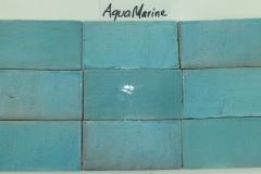 Hand Cut AQUA MARINE Melange 3x6