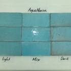 Hand Cut AQUA MARINE light medium and dark 3x6
