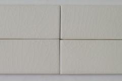 2x6 ft white crackle