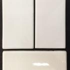 Folio One Snowdrift 3x6 HC Pearl White Crackled 3x6 Folio One White Crackled 3x6