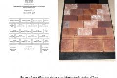 Marrakech Series Blend 2x4 Field Tile & 4x8 Cove Base