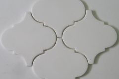 6x6 arabesque white matte