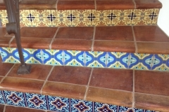 Antique Terra Cotta Stair Risers