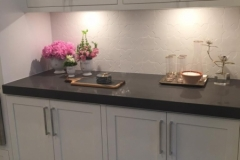 Roger Diaz Daltile HC Star & Cross White Gloss Kitchen backsplash